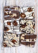 Stock Photo of Chocolate caramel bark pieces