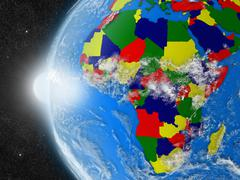 African continent from space - stock illustration