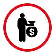 Investor icon - stock illustration