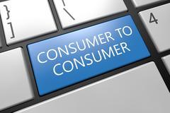 Consumer to Consumer - stock illustration