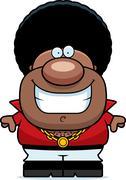 Cartoon Disco Man Smiling - stock illustration