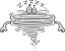 Cartoon Tornado Sleeping Stock Illustration
