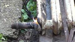 Welding work Stock Footage