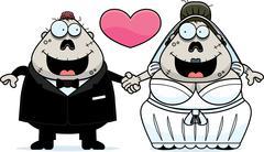 Cartoon Zombie Wedding - stock illustration