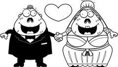 Stock Illustration of Cartoon Zombie Wedding
