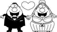 Cartoon Marriage Stock Illustration