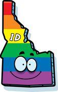 Cartoon Idaho Gay Marriage - stock illustration