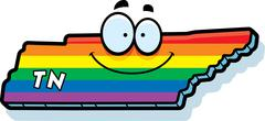 Cartoon Tennessee Gay Marriage - stock illustration