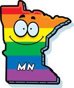 Cartoon Minnesota Gay Marriage - stock illustration
