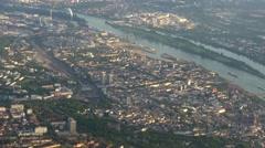 Frankfurt German city aerial Stock Footage