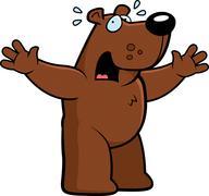 Cartoon Bear Scared Stock Illustration