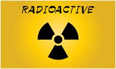 Radioactive contamination symbol - Vector Illustration Stock Illustration