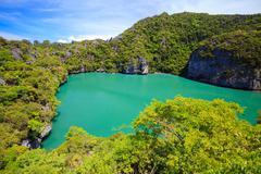 Inland sea, Angthong national marine park, koh Samui, Thailand Stock Photos