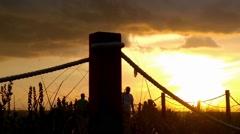 Orange sunset on Captiva Stock Footage