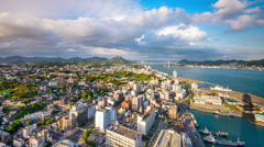 Stock Video Footage of Shimonoseki, Japan Skyline