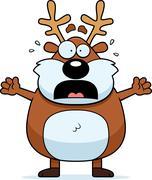Scared Cartoon Reindeer Stock Illustration