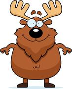 Stock Illustration of Happy Cartoon Moose