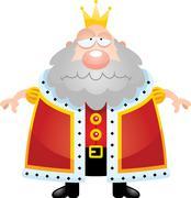 Sad Cartoon King Stock Illustration