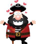 Stock Illustration of Cartoon Pirate Hug