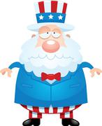 Sad Cartoon Uncle Sam Stock Illustration