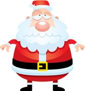 Sad Cartoon Santa Claus Stock Illustration