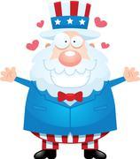 Cartoon Uncle Sam Hug Stock Illustration