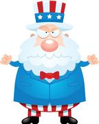 Angry Cartoon Uncle Sam Stock Illustration