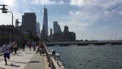 One World Trade Center (Hudson River)). Nyc - stock footage