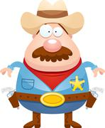 Cartoon Sheriff Mustache - stock illustration