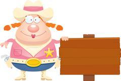 Stock Illustration of Cartoon Sheriff Sign