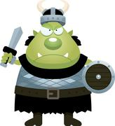 Angry Cartoon Orc Stock Illustration