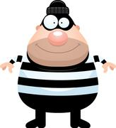 Happy Cartoon Burglar Piirros