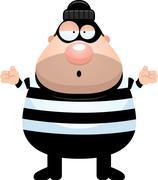 Confused Cartoon Burglar Piirros