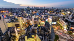 Shibuya District of Tokyo Stock Footage