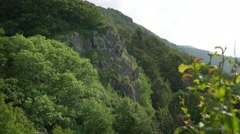 Shenandoah national park forest  and cliffs Stock Footage