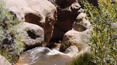 A beautiful little waterfall in southern utah Stock Footage