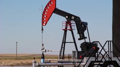 Alberta oil in the country side Stock Footage