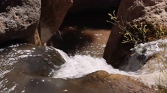 Beautiful little waterfall canyon in southern utah - stock footage