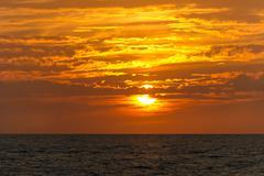 Sunset Clouds Ocean Stock Photos