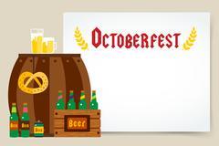 Oktoberfest celebration vector background poster Stock Illustration