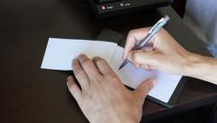 People taking notes Stock Footage