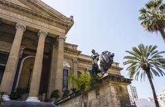 Stock Photo of Teatro Massimo Vittorio Emanuele, Palermo, Sicily.