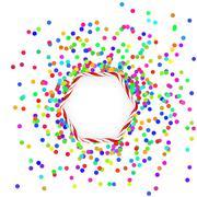 Stock Illustration of Colorful  Confetti