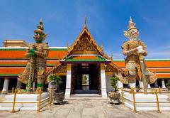 Wat phra kaew, Grand palace, Bangkok, Thailand Stock Photos