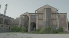 Industrial building retro, steampunk feature film location Stock Footage