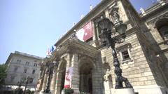 Hungarian State Opera House (Magyar Állami Operaház), Budapest Stock Footage