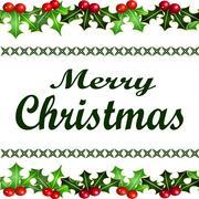 Merry Christmas background - stock illustration