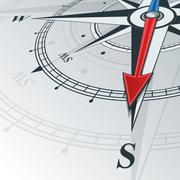 compass south - stock illustration