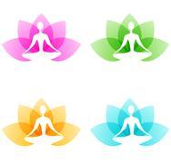 Yoga icons Stock Illustration