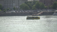 Water bus at Danube in Budapest, Hungary Stock Footage